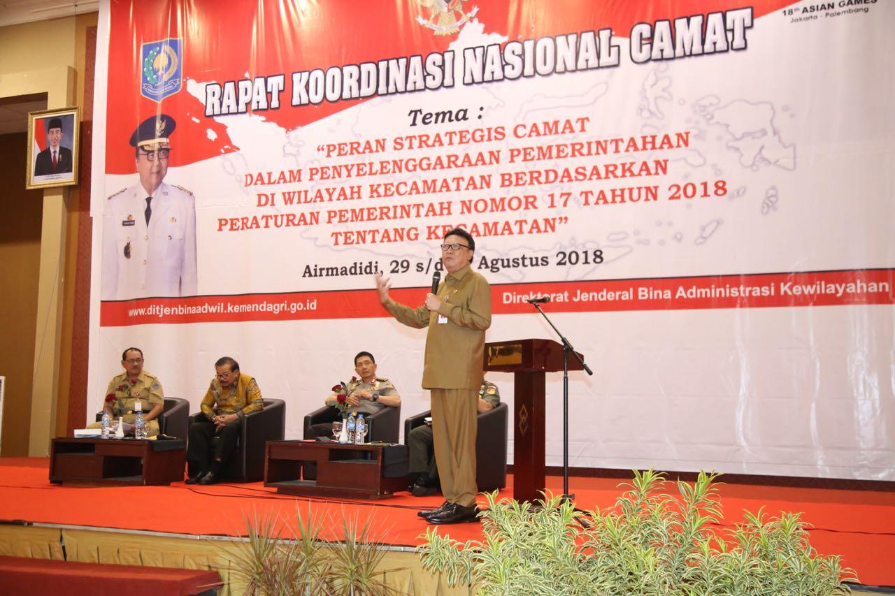Hasil gambar untuk RaKor Camat Regional I di Minahasa Utara