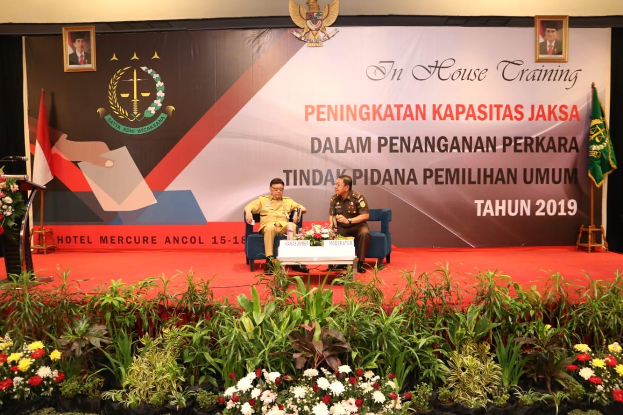 Hasil gambar untuk Pelatihan Peningkatan Kapasitas Jaksa dalam Penanganan Tindak Pidana Pemilu Tahun 2019