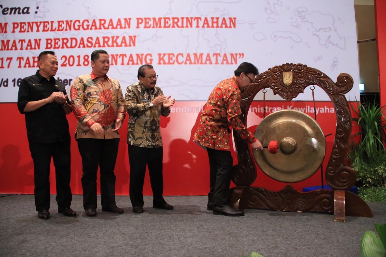 Hasil gambar untuk Rapat Koordinasi Nasional Camat Regional III Tahun 2018