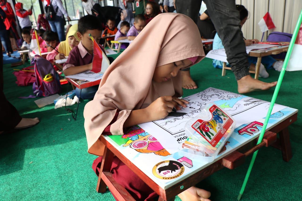 Pemuda Tigaraksa Gelar Lomba Mewarnai Badak Banten Untuk