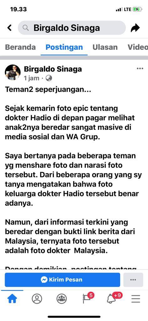 Kisah Dokter Hadio rahimahullah